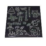 ECMQS Forest Zoo DIY Transparente Briefmarke, Silikon Stempel Set, Clear Stamps, Schneiden Schablonen, Bastelei Scrapbooking-Werkzeug