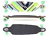 MAXOfit Deluxe Longboard Charisma Green No. 64, Drop Through/Drop Down, 101 cm, 9 Schichten, ABEC11