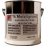 Kunstharz Rostschutzgrund, Metallgrund, mit Zinkphosphat, rotbraun, 3 Liter