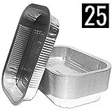 25 Aluschalen | High Quality Alu-Tropfschalen, Grillschalen | Perfekt passend für Weber, 25 Stück