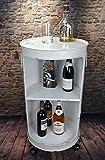 Livitat Regal Beistelltisch Ölfass Tonne H80 cm Industrie Look Loft Vintage Retro LV5025