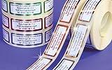 ADRESS-AUFKLEBER mit Wunschdruck, Metallic-blau | mit blauer Schrift und blauem Rand, 500 Stück | schöne geprägte Adress-Etiketten | Namens-Aufkleber, individuell mit Wunschtext, ca. 51 x 19 mm, für 1 bis 5 Zeilen, im Metallic-Look | Text per Mail mitteilen