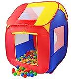 KIDUKU Kinderspielzelt Bällebad Pop Up Spielzelt + 200 Bälle + Tasche für drinnen und draußen