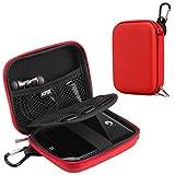 AGPTEK EVA Stoßsichere Schutzhülle Tasche Festplattentasche für 2,5-Zoll-Festplatte, Power Bank, Rot