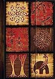 Premium Address Book Big 'African Art - Mosaik III': Adressbuch mit hochwertiger Folienveredelung