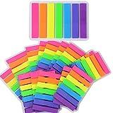 2240 Stück 16 Sets Haftmarker Film Haftnotizen Haftstreifen Page Marker Tab Marker Index Tabs Index Sticky Notes Beschreibbar Bunt für Seitenmarkierung 44*12MM 7 Farbe