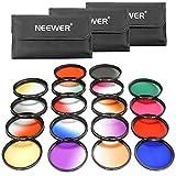Neewer 52mm 18Stück Lens Filter Kit enthält: 9Stück Full Color Filter, 9Stück Graduated Filter, 3Filter (für Nikon D7100D7000D5200D5100D5000D90D80und andere DSLR Kamera mit 52mm Objektiv