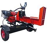 CROSSFER Brennholzspalter VHLS22T liegender Holzspalter auf Anhänger 22 Tonnen Spaltdruck mit 6,5PS Benzinmotor Benzinholzspalter mit 61cm Spaltlänge