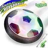 Lenbest Air Power Fußball Hover Ball mit Schaum Stoßstange und LED Beleuchtung, gutes Spielzeug Geschenk für Kinder Haustiere Indoor & outdoor – Enthält Pfeife und kleinen Schraubenzieher