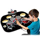 Wishtime Kinder Drum Kit Set Inklusive Kopfhörer mit Mic & Drum Sticks MP3 / CD Verstärker Electric Musical Playmat Spielzeug Instrument