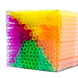 NEON STYLES – Strohhalme in vier intensiv bunten Neonfarben, 225 Stück in einer transparenten Box, leuchten unter Schwarzlicht noch intensiver und perfektionieren jedes Getränk an jeder Bar zu jedem Anlass