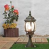 Außen-Sockelleuchte Weglampe'Brest' in antik / E27 bis 60W / IP44 Wetterschutz/Wegeleuchte Außen-Leuchte Pfeiler-Lampe