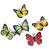 joyliveCY 5Pcs Schmetterlings Nachtlicht Baby Nachttischlampen Innenbeleuchtung Dekorationen Party Weihnachten Yorknightlights