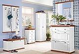 7-tlg. Garderoben-Set aus massiver Kiefer, Dielen-Set, Dielenmöbel