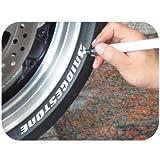 Keiti Motorrad Reifenstift Marker TP300W Weißs