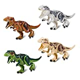 BeneGlow 4 Sets Große Größe Lebensechte Mehrfarbige 3D Dinosaurier Spielzeug, Jurassic World Dinosaurier Figur Blöcke für Kinder über 4 Jahre Alt Jungen Mädchen