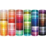 e-kurzwaren Satinband 3mm / 6mm / 12mm / 25mm / 38mm / 50mm; 32m / 91m Schleifenband Dekoband Hochzeit Geschenkband Karten, 84 Farben