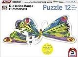 Schmidt Spiele 55504 - Die kleine Raupe Nimmersattt, Konturenpuzzle, Schmetterling, 12 Teile