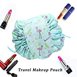 Faule Make-up Tasche Kordelzug Tragbare Quick Pack Reise-Make-up-Etui Fall Multifunktionale wasserdichte Kulturbeutel Make-up Pinsel Aufbewahrungs-Organizer (D)