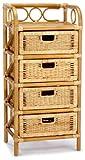 Hansen 2439/4 Rattanregal 4 Schübe 45 x 35 x 95 cm honig