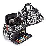 LuckyFine Handgepäck Tasche, Große Kapazität Multifunktionaler Rucksack, Reisetasche Mit Griff und Schultergurt, Schminktasche geeignet für den täglichen Gebrauch oder Arbeitsverwendung