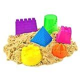 Kleine Kinetic Sand Molding Werkzeuge 6Pcs Schloss Gebäudemodell Strand Spielzeug-Set für Kinder - zufällige Farbe