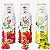 Light Low-Carb Fitness-Sirup Himbeere-Erdbeere-Zitrone-Lime Frutta Max light | Ohne-Zucker | mit Stevia | Gesund 50% Fruchtanteil 3erPack(3x500ml)