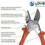 Original LÖWE Profi Universal Amboss-Schere 1.105 mit antihaftbeschichteter Stahl Klinge 40 mm Schnittlänge - vielseitig einsetzbare Schere in Industrie und Handwerk für Holz Kunststoff Gummi Leder