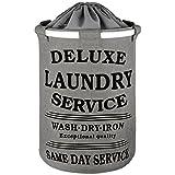 DAILYDREAM formstabiler trendiger Wäschekorb in grau mit 70L Fassungsvermögen