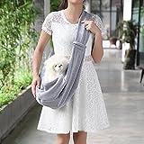 Hundetasche für Kleine Hunde und Katzen Hundetrage Hunde Transporttasche Schultertasche Sling Tragetücher Hunde Transporttasche für Kleine Haustier Grau