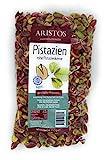 Pistazienkerne   rohe Pistazien ohne Salz   Pistazien ohne Schale   Baklava Nusstorte Eis   Aegina Griechenland   250 g Beutel   ARISTOS (1)