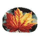Vervaco PN-0170508 Knüpfteppich Ahornblatt Knüpfpackung, Baumwolle, mehrfarbig, 70 x 50 cm / 28' x 20'