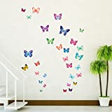 Decowall DW-1302 30 Leuchtende Schmetterlinge Tiere Wandtattoo Wandsticker Wandaufkleber Wanddeko für Wohnzimmer Schlafzimmer Kinderzimmer