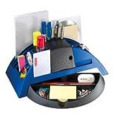 Herlitz 1601368 Big Butler V Schreibtischbox/Stiftablage (Kunststoff mit Klebefilm/abroller, Anspitzer, Zettelhalter)  blau