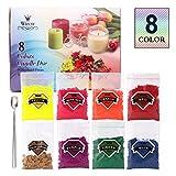 80g 8 farbe kerze wachs farbe kerze farbe set, kerze farbe kerzenfarbstoff paraffin soja kerzenwachs (8 farben x 10 g)