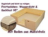 Wurfkiste 140cm x 140cm x 40cm hoch mit wasserdichtem Frotteelaken und Bodenvlies Welpenkiste Wurfbox Welpenbox