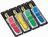 Post-it 684ARR3 Index Pfeile, 4 x 24 Haftstreifen im Spender, 11,9 x 43,2 mm, rot, gelb, grün, blau