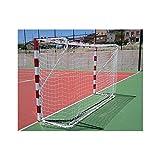 Equipamientos Lineal Premium Fußballtor-Netz, Weiß, 4 mm
