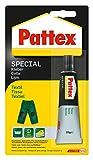 Pattex PXST1 Spezialkleber Textil, für gewebte Stoffe, Tube mit 20 g
