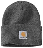 Carhartt Wintermütze für Sie und Ihn, OFA, 100% Polyacryl,elastisch, Grau, Einheitsgröße