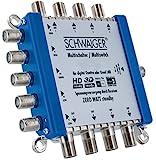 SCHWAIGER -5200- Multischalter 5 - 8 / Verteilt 1 SAT-Signal auf 8 Teilnehmer / SAT-Verteiler / SAT-Splitter mit Netzteil / digital Multiswitch für Signal-Verteilung / in Kombination mit einem Quattro LNB / SAT-Anlage / Satelliten-Schüssel / HD-TV / 3D / DVB-T2 / Satelliten-Receiver