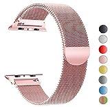 Tervoka Ersatz Armbänder für Apple Watch Series 4 40mm und Series 3/2/1 38mm Rose Gold Milanese Mesh Loop mit Magnetverschluss Edelstahl Armband