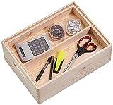 Zeller 13321 Kiste, Holz, natur, 40 x 30 cm