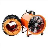 FlowerW Bodenventilator Fachmann Bau Fan 250mm 10Inch Industrieller Trommel Fan