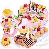 Harlls Holz Baby Küche Spielzeug Pretend Play Schneiden Kuchen Spiel Lebensmittel Kinder Spielzeug Holz Obst Kochen Spielzeug - Multi-Color
