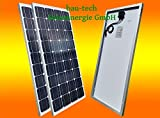 bau-tech Solarenergie 2 Stück 100 Watt Solarmodul Solarpanel Photovoltaik Solarzelle Monokristallin GmbH