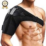 Schulterbandage Schulter Unterstützung Bandage Verstellbare, SGODDE für Verletzungen,Schulterschmerzen, arthritische Schultern, Neopren Schulterwärmer, für Linke/Rechte Schulter, Männer/Frauen
