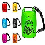 Dry Bag »Krake« Wasserdichte Trockentasche / Seesack / Survival Bag / Trockensack / Ideal für Kajak, Kanu, Segeln, Angeln, Schwimmen, Strand, Snowboarden, Skifahren, Bootfahren, Camping / Schützt Deine Wertsachen und Kleidung vor Staub, Nässe, Sand und Schmutz - der wasserfeste Packsack / Sack ist erhältlich in 2Liter / 5Liter / 10Liter / 20Liter / 30Liter & 40Liter / 2L gelb