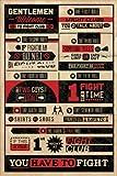 Pyramid International 'Fight Club Rules Infographic Maxi-Poster, mehrfarbig, 61x 91,5x 1,3cm