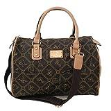 Giulia Pieralli - Damen Glamour Handtasche Damentasche Tasche Henkeltasche Bowling Tasche Umhängetasche - präsentiert von ZMOKA in versch. Farben (Beige Beige)